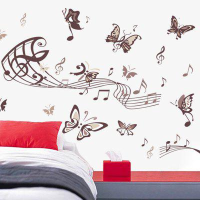 DSU Music Butterfly Wall Sticker