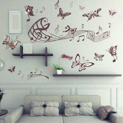 DSU Music Butterfly Wall StickerWall Stickers<br>DSU Music Butterfly Wall Sticker<br><br>Art Style: Plane Wall Stickers<br>Brand: DSU<br>Functions: Decorative Wall Stickers<br>Material: Vinyl(PVC)<br>Package Contents: 1 x Wall Sticker<br>Package size (L x W x H): 60.00 x 5.00 x 5.00 cm / 23.62 x 1.97 x 1.97 inches<br>Package weight: 0.1700 kg<br>Product size (L x W x H): 60.00 x 90.00 x 0.10 cm / 23.62 x 35.43 x 0.04 inches<br>Product weight: 0.1300 kg<br>Subjects: Others