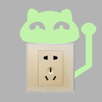 DIY Fluorescence Antenna Cat Luminous Switch StickerWall Stickers<br>DIY Fluorescence Antenna Cat Luminous Switch Sticker<br><br>Functions: Decorative Wall Stickers<br>Hang In/Stick On: Bedrooms,Kids Room,Living Rooms<br>Material: Self-adhesive Plastic, Vinyl(PVC)<br>Package Contents: 1 x Sticker<br>Package size (L x W x H): 16.00 x 4.00 x 4.00 cm / 6.3 x 1.57 x 1.57 inches<br>Package weight: 0.0230 kg<br>Product size (L x W x H): 15.50 x 14.00 x 0.10 cm / 6.1 x 5.51 x 0.04 inches<br>Product weight: 0.0020 kg