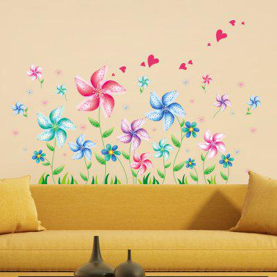 DSU Creative Cartoon Windmill Wall Sticker Wallpaper