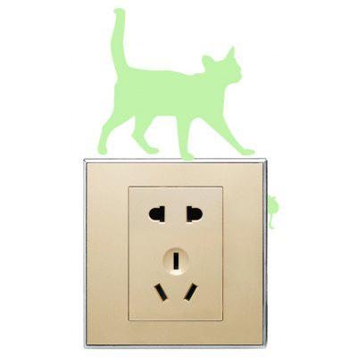 Removable Fluorescence Cat Luminous Switch Wall Sticker