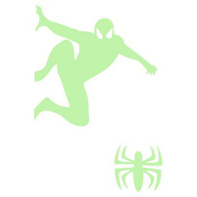 Luminous Man and Spider Pattern Switch Sticker