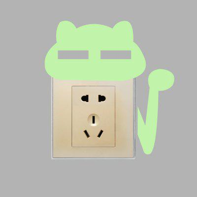 Creative Fluorescence Squinting Cat Luminous Switch StickerWall Stickers<br>Creative Fluorescence Squinting Cat Luminous Switch Sticker<br><br>Function: Light Switch Stickers<br>Package Contents: 1 x Sticker<br>Package size (L x W x H): 16.00 x 4.00 x 4.00 cm / 6.3 x 1.57 x 1.57 inches<br>Package weight: 0.0260 kg<br>Product size (L x W x H): 15.50 x 16.00 x 0.10 cm / 6.1 x 6.3 x 0.04 inches<br>Product weight: 0.0050 kg<br>Suitable Space: Bathroom,Bedroom,Kids Room,Office,Study Room / Office<br>Type: Plane Wall Sticker