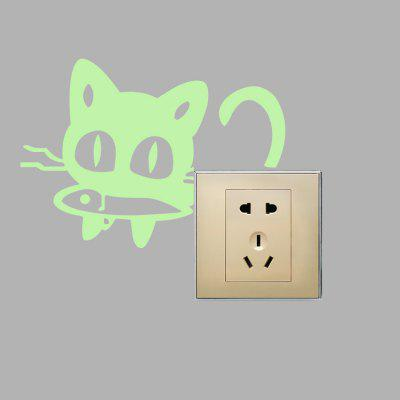 Creative Fluorescence Greedy Cat Luminous Switch StickerWall Stickers<br>Creative Fluorescence Greedy Cat Luminous Switch Sticker<br><br>Function: Light Switch Stickers, Light Switch Stickers<br>Material: Self-adhesive Plastic, Self-adhesive Plastic, Vinyl(PVC), Vinyl(PVC)<br>Package Contents: 1 x Sticker, 1 x Sticker<br>Package size (L x W x H): 12.00 x 4.00 x 4.00 cm / 4.72 x 1.57 x 1.57 inches, 12.00 x 4.00 x 4.00 cm / 4.72 x 1.57 x 1.57 inches<br>Package weight: 0.0230 kg, 0.0230 kg<br>Product size (L x W x H): 10.00 x 10.50 x 0.10 cm / 3.94 x 4.13 x 0.04 inches, 10.00 x 10.50 x 0.10 cm / 3.94 x 4.13 x 0.04 inches<br>Product weight: 0.0020 kg, 0.0020 kg<br>Suitable Space: Bathroom,Bedroom,Kids Room,Kitchen,Living Room, Bathroom,Bedroom,Kids Room,Kitchen,Living Room<br>Type: Plane Wall Sticker, Plane Wall Sticker