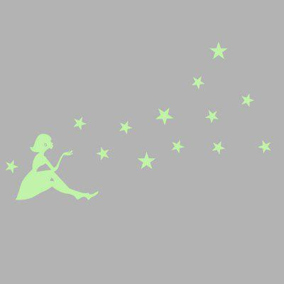 Luminous Fairy and Star Pattern StickerWall Stickers<br>Luminous Fairy and Star Pattern Sticker<br><br>Art Style: Plane Wall Stickers<br>Functions: Decorative Wall Stickers<br>Hang In/Stick On: Bedrooms,Kids Room,Living Rooms<br>Material: Vinyl(PVC), Self-adhesive Plastic<br>Package Contents: 1 x Sticker<br>Package size (L x W x H): 60.00 x 36.00 x 1.10 cm / 23.62 x 14.17 x 0.43 inches<br>Package weight: 0.0330 kg<br>Product size (L x W x H): 58.50 x 35.00 x 0.10 cm / 23.03 x 13.78 x 0.04 inches<br>Product weight: 0.0120 kg<br>Subjects: Others