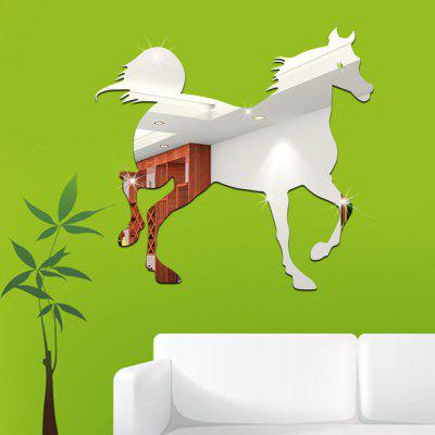 DIY Horse Mirror Effect Painting StickerWall Stickers<br>DIY Horse Mirror Effect Painting Sticker<br><br>Function: 3D Effect<br>Material: Acrylic, Self-adhesive Plastic<br>Package Contents: 1 x Sticker<br>Package size (L x W x H): 37.00 x 37.00 x 1.00 cm / 14.57 x 14.57 x 0.39 inches<br>Package weight: 0.1500 kg<br>Product size (L x W x H): 35.00 x 35.00 x 0.20 cm / 13.78 x 13.78 x 0.08 inches<br>Product weight: 0.1000 kg<br>Quantity: 1<br>Subjects: Mirror<br>Suitable Space: Bedroom,Living Room<br>Type: Plane Wall Sticker