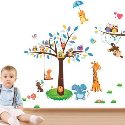 DSU Creative Forest Park Wall Sticker Wallpaper