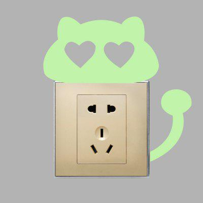 DIY Creative Fluorescence Love Cat Luminous Switch StickerWall Stickers<br>DIY Creative Fluorescence Love Cat Luminous Switch Sticker<br><br>Function: Light Switch Stickers<br>Material: Self-adhesive Plastic, Vinyl(PVC)<br>Package Contents: 1 x Sticker<br>Package size (L x W x H): 17.00 x 4.00 x 4.00 cm / 6.69 x 1.57 x 1.57 inches<br>Package weight: 0.0260 kg<br>Product size (L x W x H): 15.50 x 15.00 x 0.10 cm / 6.1 x 5.91 x 0.04 inches<br>Product weight: 0.0050 kg<br>Quantity: 1<br>Subjects: Animal<br>Suitable Space: Bathroom,Bedroom,Dining Room,Kids Room,Living Room<br>Type: Plane Wall Sticker