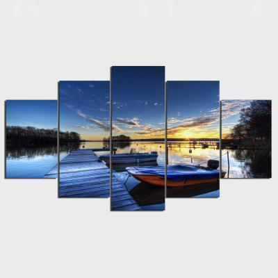 YSDAFEN 5PCS Print Wharf Wall Decor for Home Decoration