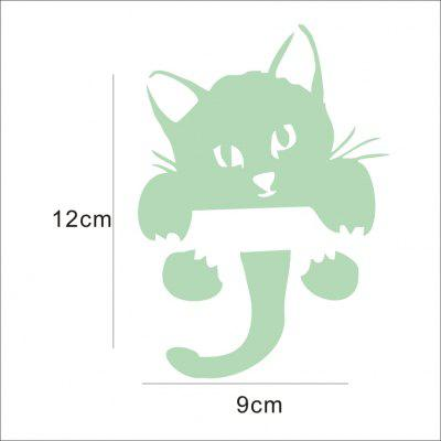 DIY Creative Fluorescence Cat Luminous Switch Wall StickerWall Stickers<br>DIY Creative Fluorescence Cat Luminous Switch Wall Sticker<br><br>Artists: Others<br>Function: Light Switch Stickers<br>Material: Vinyl(PVC), Self-adhesive Plastic<br>Package Contents: 1 x Sticker<br>Package size (L x W x H): 12.00 x 12.00 x 0.20 cm / 4.72 x 4.72 x 0.08 inches<br>Package weight: 0.0270 kg<br>Product size (L x W x H): 9.00 x 12.00 x 0.10 cm / 3.54 x 4.72 x 0.04 inches<br>Product weight: 0.0200 kg<br>Quantity: 1<br>Sizes: Others<br>Subjects: Animal,Others<br>Suitable Space: Bedroom,Kids Room,Living Room<br>Type: 3D Wall Sticker
