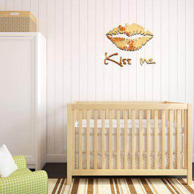 3D Acrylic Kiss Me Style Mirror Wall StickerWall Stickers<br>3D Acrylic Kiss Me Style Mirror Wall Sticker<br><br>Art Style: Plane Wall Stickers<br>Function: Decorative Wall Sticker<br>Material: Acrylic<br>Package Contents: 1 x Wall Sticker<br>Package size (L x W x H): 29.00 x 32.00 x 3.00 cm / 11.42 x 12.6 x 1.18 inches<br>Package weight: 0.1000 kg<br>Product size (L x W x H): 27.00 x 30.00 x 0.20 cm / 10.63 x 11.81 x 0.08 inches<br>Product weight: 0.0800 kg<br>Quantity: 8pcs<br>Subjects: 3D,Mirror<br>Suitable Space: Bedroom,Living Room<br>Type: Mirror Wall Sticker