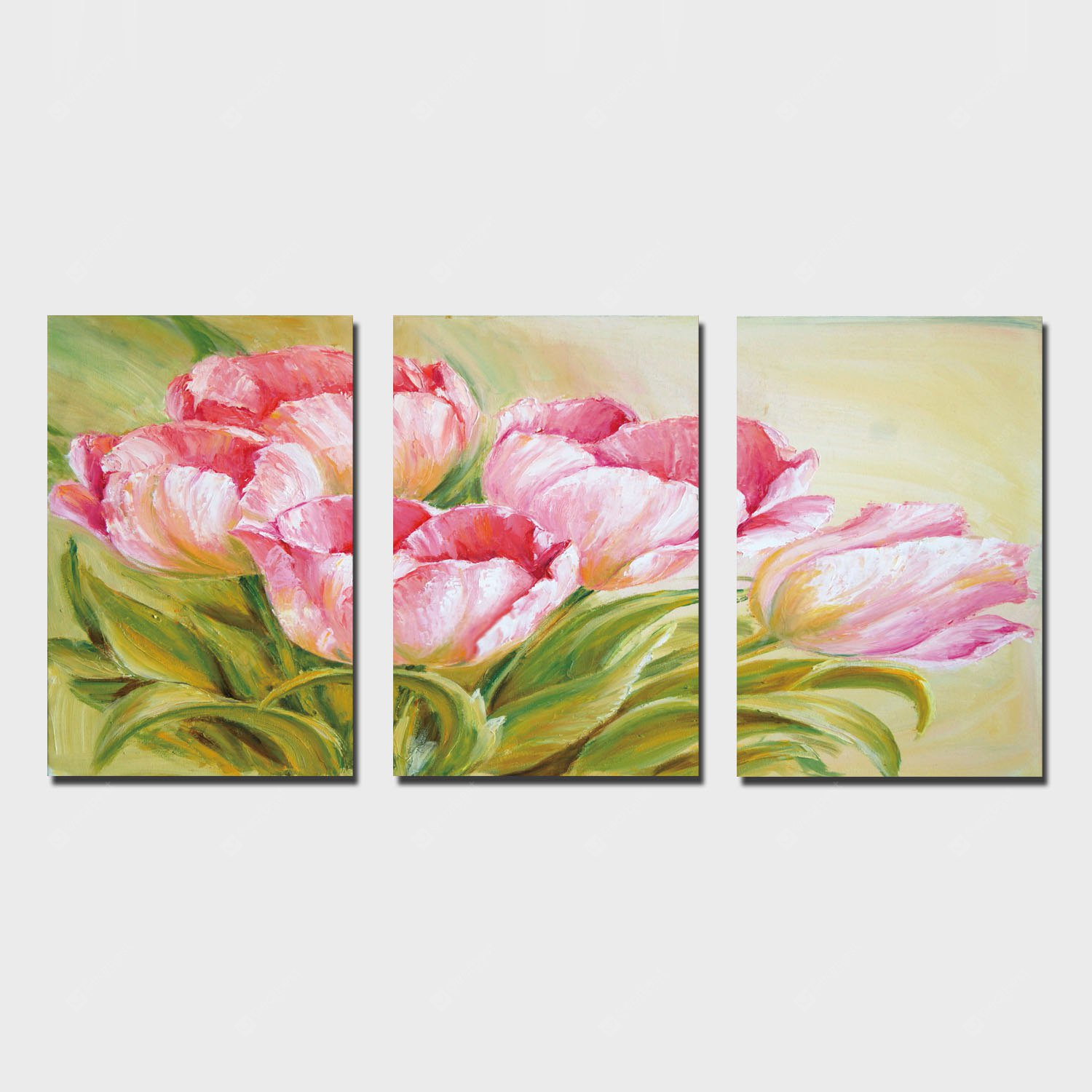 YSDAFEN 3PCS Print Tulip Wall Decor for Home Decoration
