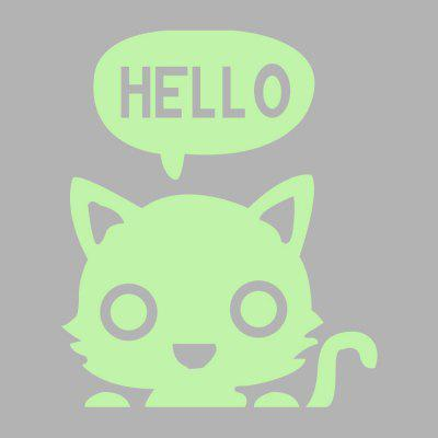 Luminous Hello Cat Wall StickerWall Stickers<br>Luminous Hello Cat Wall Sticker<br><br>Art Style: Plane Wall Stickers<br>Functions: Decorative Wall Stickers<br>Material: Vinyl(PVC)<br>Package Contents: 1 x Wall Sticker<br>Package size (L x W x H): 18.00 x 21.00 x 1.10 cm / 7.09 x 8.27 x 0.43 inches<br>Package weight: 0.0290 kg<br>Product size (L x W x H): 17.00 x 20.00 x 0.10 cm / 6.69 x 7.87 x 0.04 inches<br>Product weight: 0.0080 kg<br>Subjects: Animal