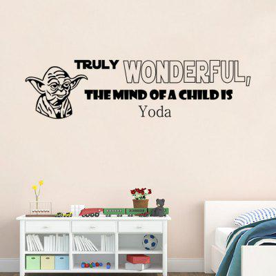 Buy BLACK DSU Proverb Decorative Bedroom Wall Sticker for $3.42 in GearBest store