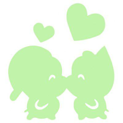 Luminous Kiss Pig Wall Sticker
