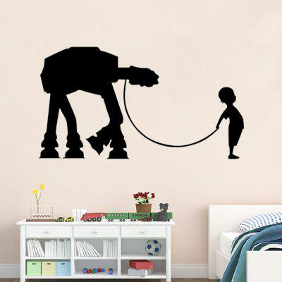 DSU Creative Cartoon Wall Sticker WallpaperWall Stickers<br>DSU Creative Cartoon Wall Sticker Wallpaper<br><br>Brand: DSU<br>Function: Decorative Wall Sticker<br>Material: Vinyl(PVC), Self-adhesive Plastic<br>Package Contents: 1 x Sticker<br>Package size (L x W x H): 45.00 x 5.00 x 5.00 cm / 17.72 x 1.97 x 1.97 inches<br>Package weight: 0.1300 kg<br>Product size (L x W x H): 42.00 x 35.50 x 0.10 cm / 16.54 x 13.98 x 0.04 inches<br>Product weight: 0.0600 kg<br>Quantity: 1<br>Subjects: Movie Star<br>Suitable Space: Bedroom,Dining Room,Kids Room,Living Room<br>Type: Plane Wall Sticker