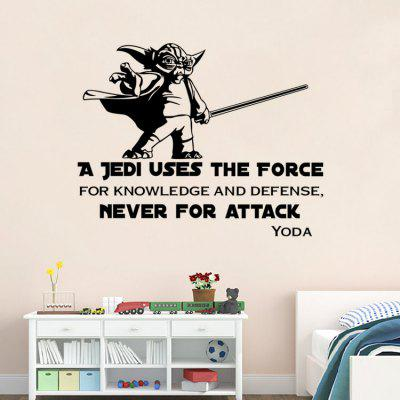 DSU Creative Quote Wall Sticker WallpaperWall Stickers<br>DSU Creative Quote Wall Sticker Wallpaper<br><br>Brand: DSU<br>Function: Decorative Wall Sticker<br>Material: Vinyl(PVC), Self-adhesive Plastic<br>Package Contents: 1 x Sticker<br>Package size (L x W x H): 60.00 x 5.00 x 5.00 cm / 23.62 x 1.97 x 1.97 inches<br>Package weight: 0.1300 kg<br>Product size (L x W x H): 58.00 x 28.00 x 0.10 cm / 22.83 x 11.02 x 0.04 inches<br>Product weight: 0.0600 kg<br>Quantity: 1<br>Subjects: Movie Star<br>Suitable Space: Bedroom,Dining Room,Kids Room,Living Room<br>Type: Plane Wall Sticker