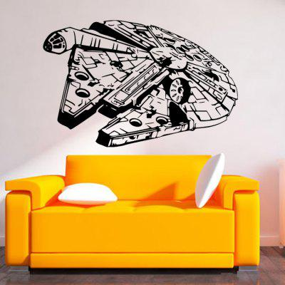 DSU Large Fighter Shape Removable StickerWall Stickers<br>DSU Large Fighter Shape Removable Sticker<br><br>Brand: DSU<br>Function: Decorative Wall Sticker<br>Material: Vinyl(PVC), Self-adhesive Plastic<br>Package Contents: 1 x Sticker<br>Package size (L x W x H): 60.00 x 6.00 x 6.00 cm / 23.62 x 2.36 x 2.36 inches<br>Package weight: 0.1900 kg<br>Product size (L x W x H): 57.00 x 88.00 x 0.10 cm / 22.44 x 34.65 x 0.04 inches<br>Product weight: 0.1400 kg<br>Quantity: 1 piece<br>Subjects: Abstract<br>Suitable Space: Bedroom,Kids Room,Living Room<br>Type: Plane Wall Sticker