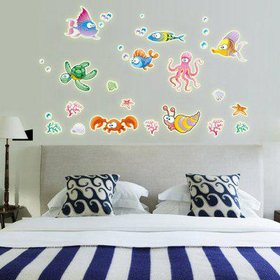 Creative Colorful Underwater World Wall Sticker Wallpaper