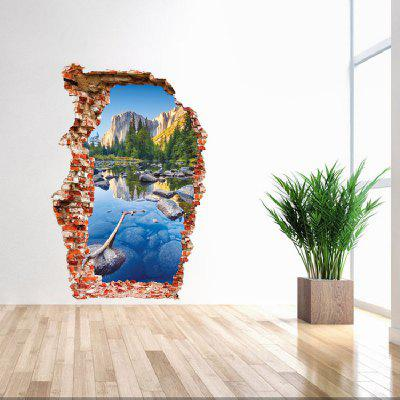 3D Creative Landscape Wall Sticker Wallpaper