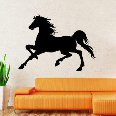 Buy BLACK Creative Running Horse Wall Sticker Wallpaper for $6.84 in GearBest store