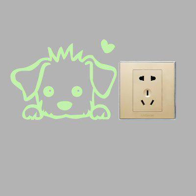 Fluorescence Pet Dog Luminous Switch Wall StickerWall Stickers<br>Fluorescence Pet Dog Luminous Switch Wall Sticker<br><br>Functions: Decorative Wall Stickers<br>Hang In/Stick On: Bathroom,Bedrooms,Kids Room,Living Rooms<br>Material: Self-adhesive Plastic, Vinyl(PVC)<br>Package Contents: 1 x Sticker<br>Package size (L x W x H): 14.00 x 6.00 x 6.00 cm / 5.51 x 2.36 x 2.36 inches<br>Package weight: 0.0250 kg<br>Product size (L x W x H): 12.00 x 9.00 x 0.10 cm / 4.72 x 3.54 x 0.04 inches<br>Product weight: 0.0040 kg