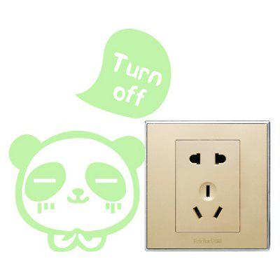 Fluorescence Creative Little Bear Luminous Switch Wall Sticker
