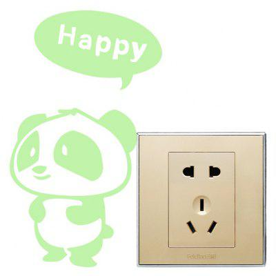 Fluorescence Happy Bear Luminous Switch Wall Sticker