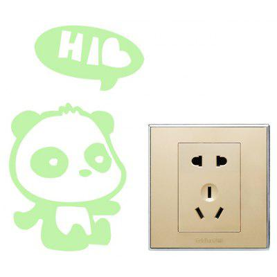 DIY Fluorescence Little Bear Luminous Switch Wall Sticker