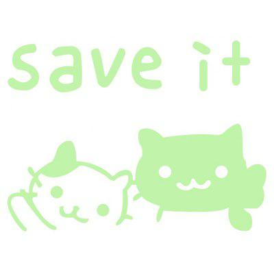 Fluorescence Cute Cat Luminous Switch Sticker