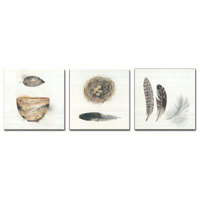 Buy COLORMIX Jingsheng 3PCS Minimalist Style Bird Nest Wall Decor for $11.75 in GearBest store