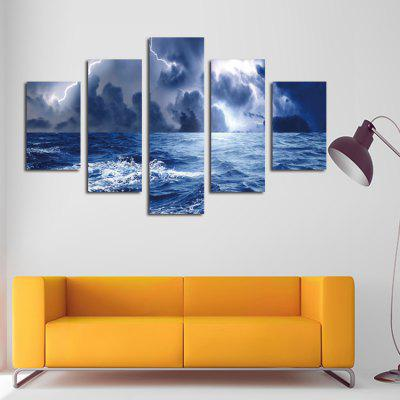 5PCS Print Storm Wall Decor for Home Decoration