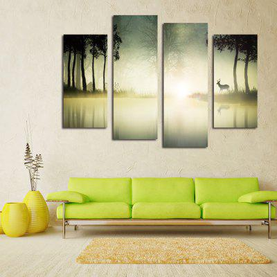 4PCS Print Moonlight Wall Decor for Home Decoration