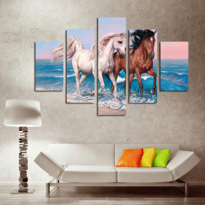 5PCS Print Horse Wall Decor for Home Decoration