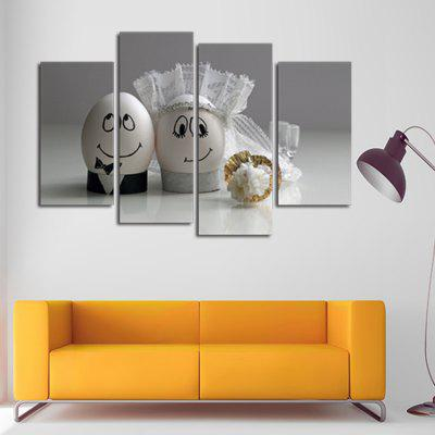 4PCS Print Sweet Wall Decor for Home Decoration