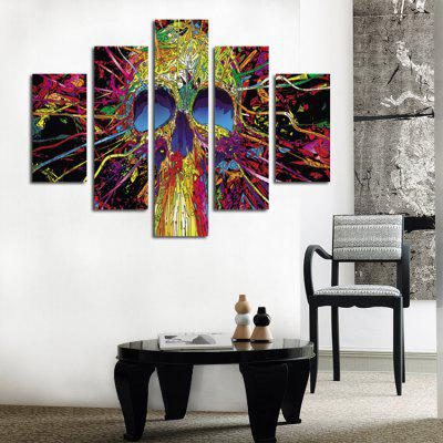 Skull Print Abstract Wall Decor for Home Decoration