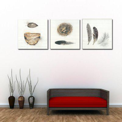 Jingsheng 3PCS Print Bird Nest Wall Decor Home Decoration
