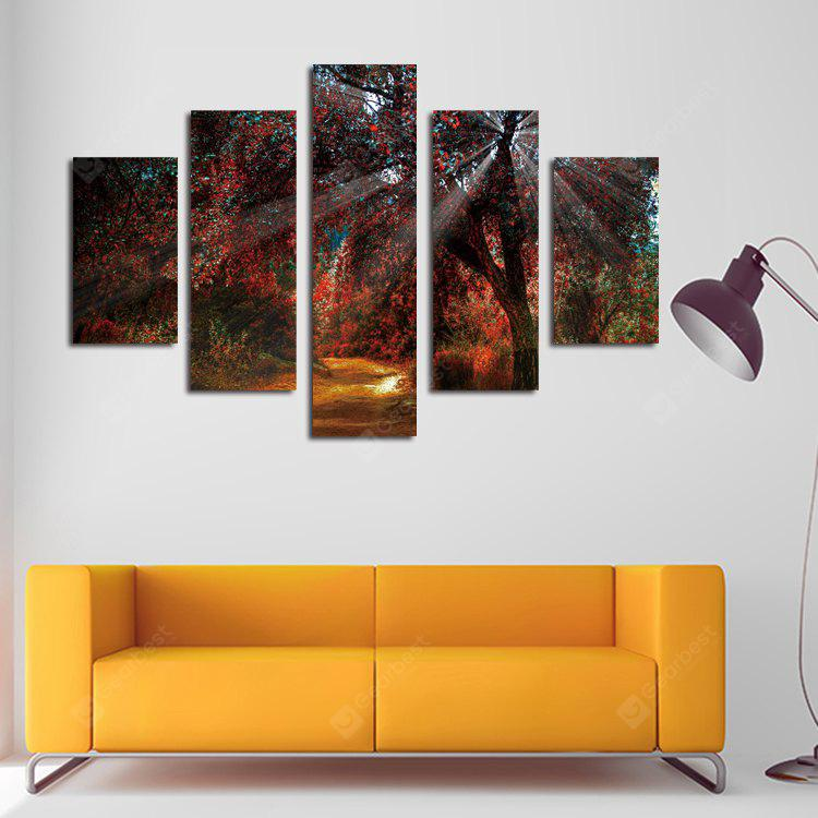 5PCS Print Maple Wall Decor for Home Decoration