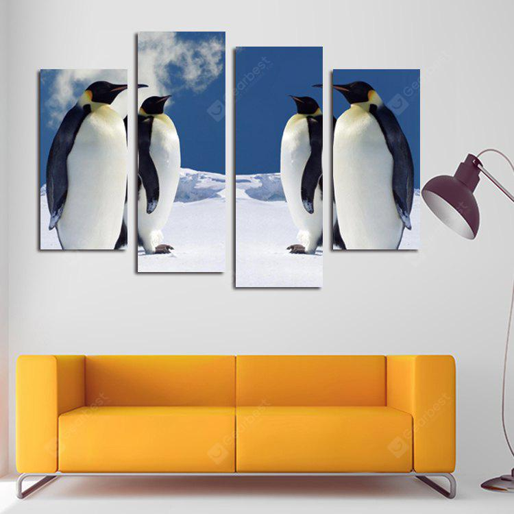 4PCS Print Penguin Wall Decor for Home Decoration