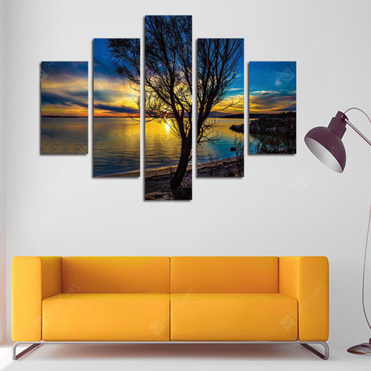 5PCS Print Old Tree Wall Decor for Home Decoration