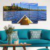 5PCS Waterscape Wall Decor for Home Decoration - AZURE