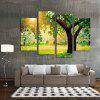 4PCS Print Sunlight and Trees Wall Decor Home Decoration - MULTI