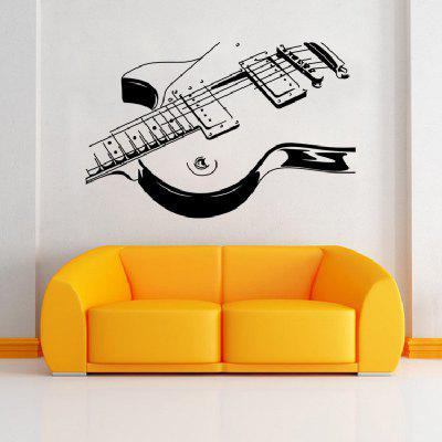 Creative Music Guitar Wall Sticker Wallpaper