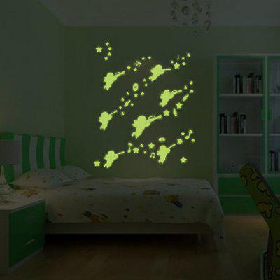 Creative Lovely Elf Fluorescence Wall Sticker WallpaperWall Stickers<br>Creative Lovely Elf Fluorescence Wall Sticker Wallpaper<br><br>Functions: Decorative Wall Stickers<br>Hang In/Stick On: Bedrooms,Kids Room,Living Rooms<br>Material: Self-adhesive Plastic, Vinyl(PVC)<br>Package Contents: 1 x Sticker<br>Package size (L x W x H): 30.00 x 6.00 x 6.00 cm / 11.81 x 2.36 x 2.36 inches<br>Package weight: 0.2000 kg<br>Product size (L x W x H): 21.00 x 29.70 x 0.10 cm / 8.27 x 11.69 x 0.04 inches<br>Product weight: 0.1000 kg