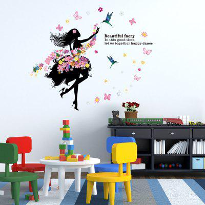 Creative Flower Faerie Environmental Wall Sticker