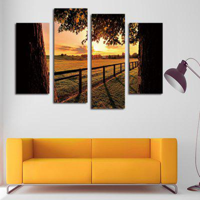 4PCS Evening Farm Printing Canvas Wall Decoration