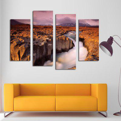 4pcs Golden Valley Printing Canvas Wall Decoration