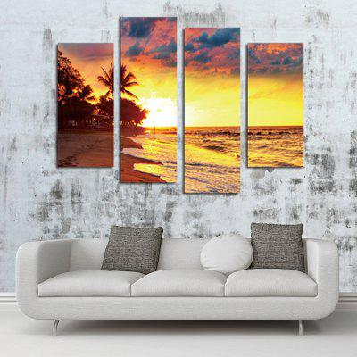 Twilight Seaside Printing Canvas Wall Decoration