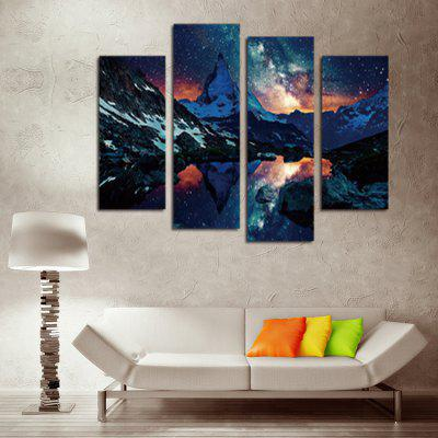 4PCS Print Star River Wall Decor for Home Decoration