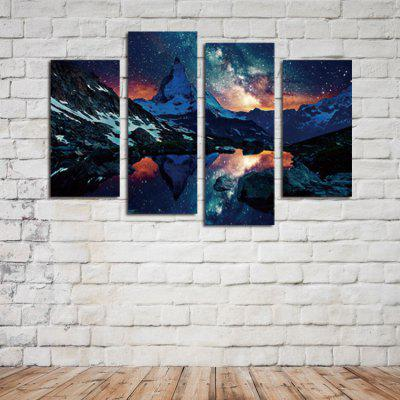 4PCS Print Star River Wall Decor for Home DecorationPrints<br>4PCS Print Star River Wall Decor for Home Decoration<br><br>Craft: Print<br>Form: Four Panels<br>Material: Canvas<br>Package Contents: 4 x Print<br>Package size (L x W x H): 42.00 x 6.00 x 6.00 cm / 16.54 x 2.36 x 2.36 inches<br>Package weight: 0.4200 kg<br>Painting: Without Inner Frame<br>Product weight: 0.3400 kg<br>Shape: Horizontal Panoramic<br>Style: Beautiful<br>Subjects: Landscape<br>Suitable Space: Bedroom,Hotel,Living Room